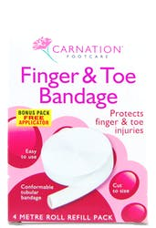 Carnation Finger and Toe Bandage 4m Roll Refill Pack