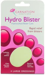 Carnation foot care Hydrocolloid Blister Care 4 Large Dressings