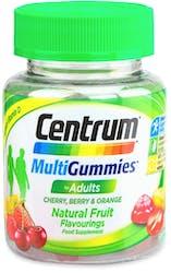 Centrum Multigummies for Adults Cherry Berry & Orange 30 Gummies