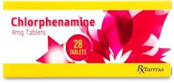 Chlorphenamine 4mg 28 Tablets