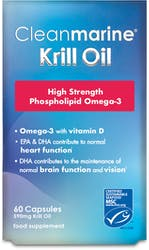 Cleanmarine Krill Oil  High Strength 590 Marine Gelcaps 60s