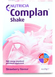 Complan Shake Strawberry Flavour 4x57g