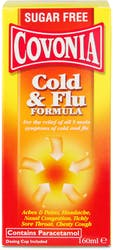 Covonia Cold and Flu Formula Sugar Free 160ml