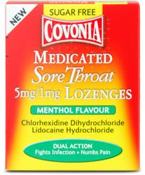 Covonia Medicated Lozenges Sugar Free 36s