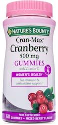 Nature's Bounty Cran-Max Cranberry 60 Gummies
