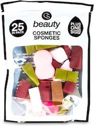 Cs Beauty Cosmetic Sponges 25 Pack
