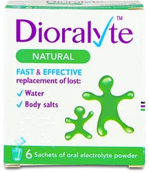 Dioralyte Natural 6 sachets