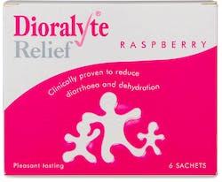 Dioralyte Relief Raspberry 6 Sachets