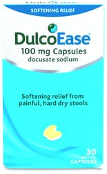 Dulcoease 100mg Softening Relief 30 Soft Gel Capsules
