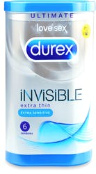 Durex Invisible Extra Thin Extra Sensitive 6 Condoms