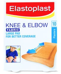 Elastoplast Knee & Elbow Fabric 10 Plasters