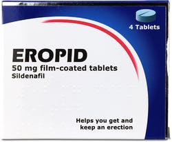 Eropid Sildenafil 50mg 4 Tablets