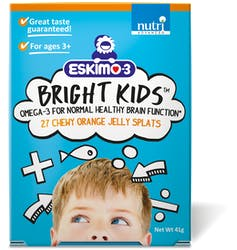 Eskimo-3 Bright Kids Fish Oil Jelly Splats 27s