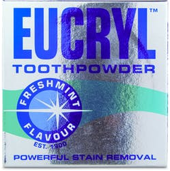 Eucryl Toothpowder Stain Removal Freshmint 50g