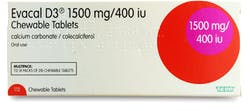 Evacal D3 1500mg chewable 112 Tablets