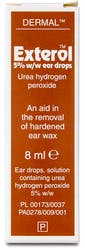 Exterol 5% Ear Wax Removal Drops 8ml