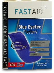 Fast Aid Assorted Blue Eyetec Plaster 40S