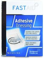 Fast Aid Dressing Adhesive 6.5cm x 8cm 5s