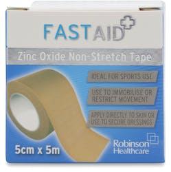 Fast Aid Zinc Oxide Non-Stretch Tape 5cmx5cm
