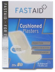 Fastaid Cushioned Plasters Pack of 20