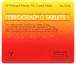 Ferrograd-C Prolongued Released 30 Tablets