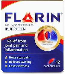 Flarin 200mg Ibuprofen 12 Soft Capsules