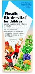 Floradix Kindervital for Children Liquid Calcium and Vitamin Formula 250ml