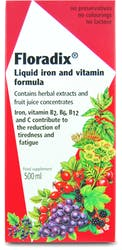 Floradix Liquid Iron and Vitamin Formula 500ml