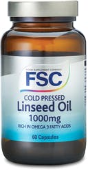 FSC Cold Pressed Linseed Oil 1000mg 60 Capsules