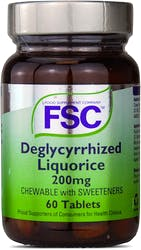 FSC Deglycyrrhized Liquorice 200mg 60 Tablets