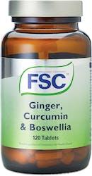 FSC Ginger, Curcumin & Boswellia 120 Tablets
