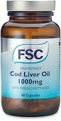 FSC High Potency Cod Liver Oil 1000mg 60 Capsules