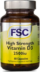 FSC High Strength Vitamin D3 2500iu 60 Capsules