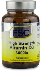 FSC High Strength Vitamin D3 3000iu 60 Capsules