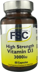FSC High Strength Vitamin D3 3000iu 60 Capsules