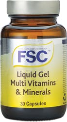 FSC Liquid Gel MultiVitamins and Minerals 30 Capsules