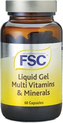 FSC Liquidgel MultiVitamins and Minerals 60 Capsules