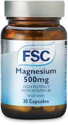 FSC Magnesium 500mg 30 Vegetarian Capsules