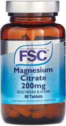 FSC Magnesium Citrate 200mg 60 Tablets