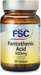 FSC Pantothenic Acid (VitaminB5) 500mg 30 Tablets