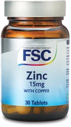 FSC Zinc 15mg with Copper 30 Tablets