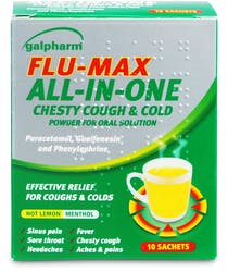 Galpharm Flu-Max All-In-One Chesty Cough & Cold 10 Sachets