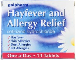 Galpharm Hayfever and Allergy Relief 14 Tablets