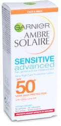 Garnier Ambre Solaire Sensitive Face and Neck SPF50+ 50ml