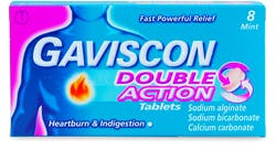 Gaviscon Double Action Mint 8 Chewable Tablets