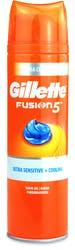 Gillette Fusion5 Ultra Sensitive & Cooling Men's Shaving Gel 200ml