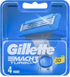 Gillette Mach 3 Turbo 4 Blades