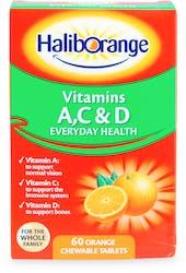 Haliborange Vitamins A, C & D 60 Orange Chewable Tablets