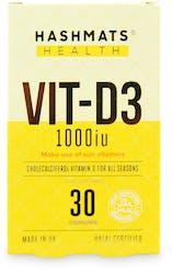 Hashmats Health Vit-D3 1000iu 30 capsules
