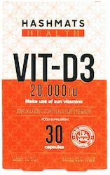 Hashmats Health Vit-D3 20,000iu 30 capsules